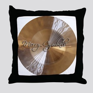 merry cymbals Throw Pillow
