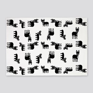 French Bulldogs 5'x7'Area Rug