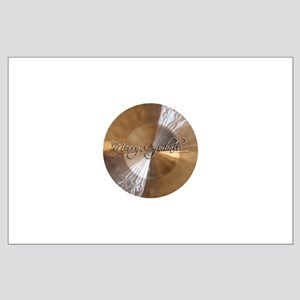 merry cymbals Large Poster