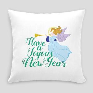 Joyous New Year Everyday Pillow