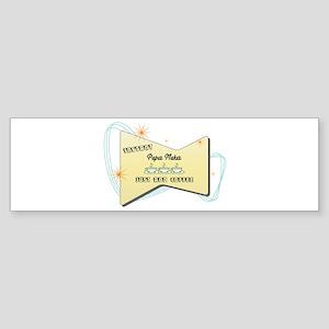 Instant Paper Maker Bumper Sticker