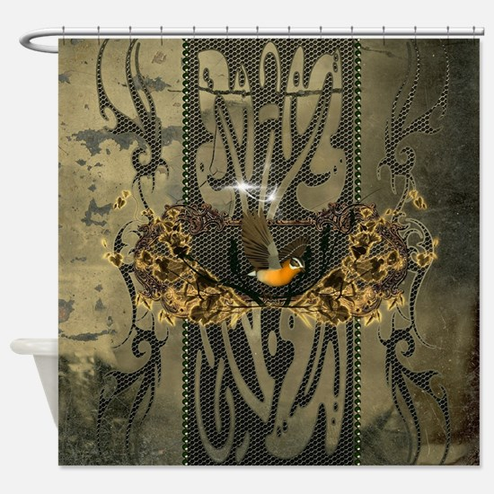 Wonderful songbird Shower Curtain