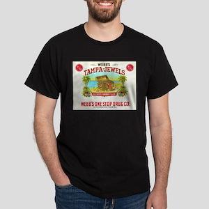 Webb's Tampa Jewels Vintage Art Cigar Dark T-Shirt
