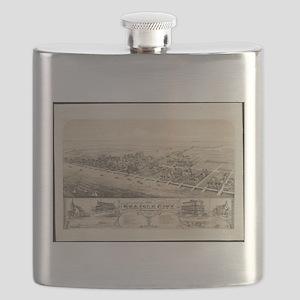 Vintage Pictorial Map of Sea Isle City NJ (1 Flask