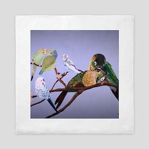 Bird Painting Queen Duvet