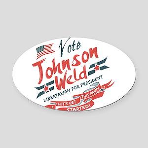 Vintage Style Johnson Weld Oval Car Magnet