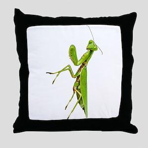 Praying mantis Throw Pillow
