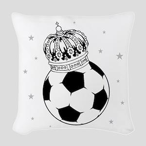 Soccer Royalty Woven Throw Pillow