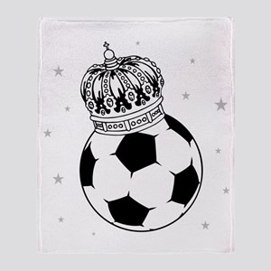 Soccer Royalty Throw Blanket