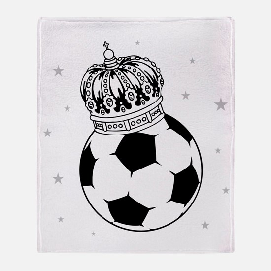 Soccer Royalty Throw Blanket