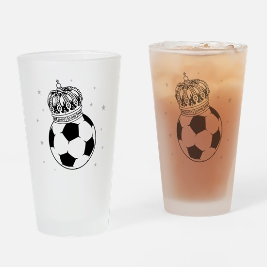 Soccer Royalty Drinking Glass