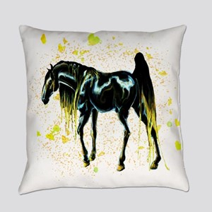 Yellow Love Horse Everyday Pillow
