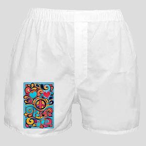 Colorful Hippie Art Boxer Shorts