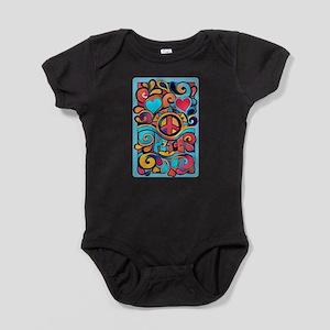 Colorful Hippie Art Baby Bodysuit