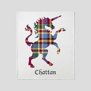 Unicorn - Chattan Throw Blanket