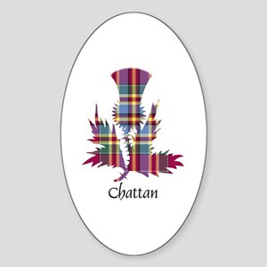 Thistle - Chattan Sticker (Oval)