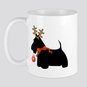 Scottie Dog Reindeer Mug