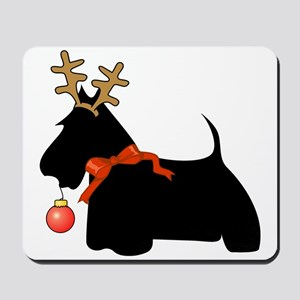 Scottie Dog Reindeer Mousepad