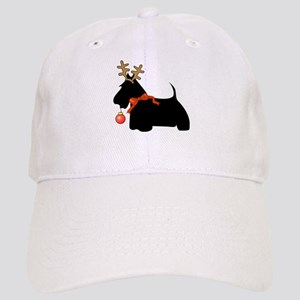 Scottie Dog Reindeer Cap