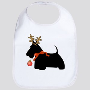 Scottie Dog Reindeer Bib