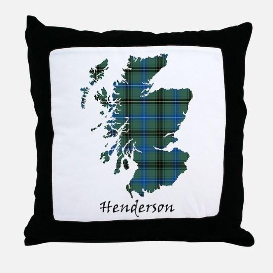 Map - Henderson Throw Pillow