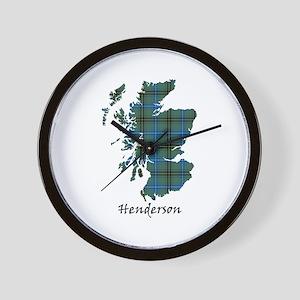 Map - Henderson Wall Clock