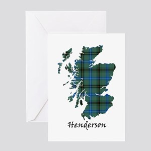 Map - Henderson Greeting Card