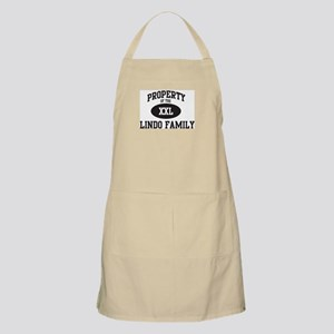 Property of Lindo Family BBQ Apron