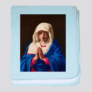 Virgin Mary baby blanket