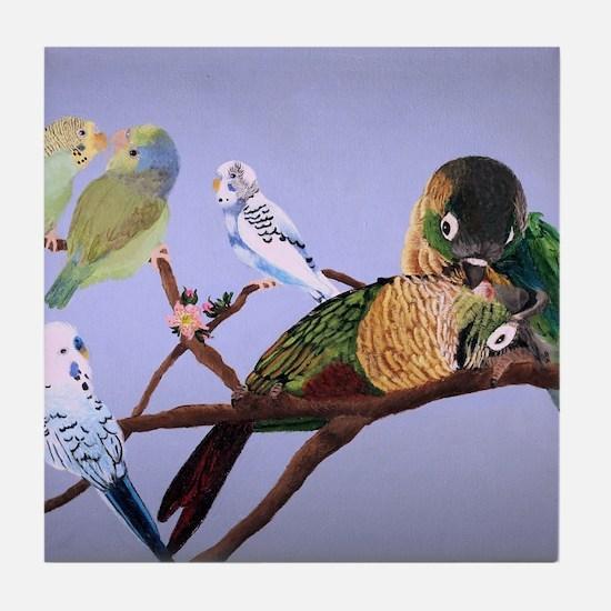 Bird Painting Tile Coaster