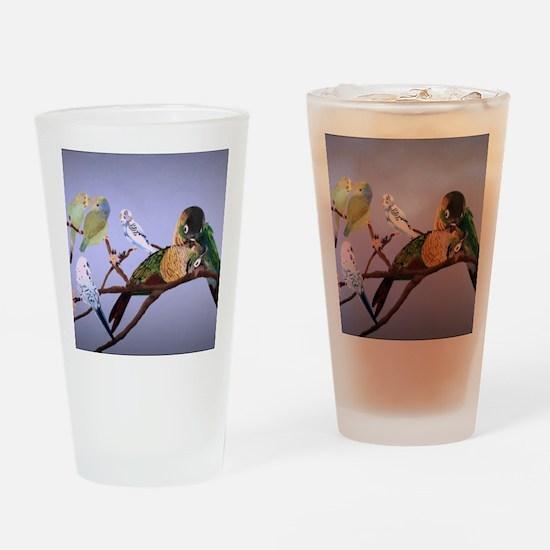 Bird Painting Drinking Glass