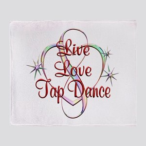Live Love Tap Dance Throw Blanket