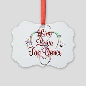 Live Love Tap Dance Picture Ornament