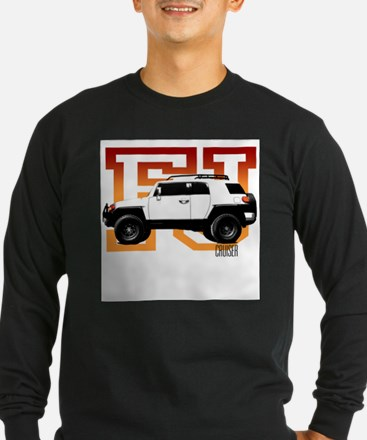 FJ Cruiser Red-Orange Long Sleeve T-Shirt