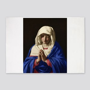 Virgin Mary 5'x7'Area Rug