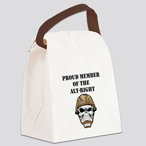 Alt-right black Canvas Lunch Bag