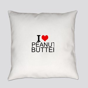 I Love Peanut Butter Everyday Pillow