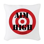 Aim High Woven Throw Pillow