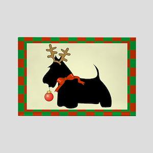 Scottish Terrier Christmas Rectangle Magnet