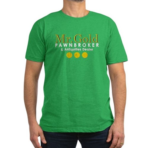 Mr. Gold Pawnbroker Men's Dark Fitted T-Shirt