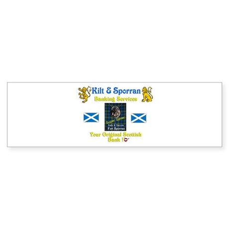 Scotland's Best Family Bank. Bumper Sticker