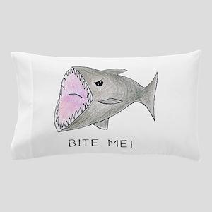Funny Shark Bite Me Pillow Case