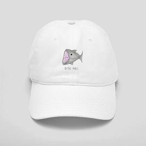 Funny Shark Bite Me Cap