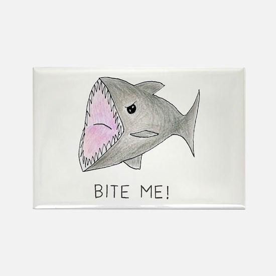 Funny Shark Bite Me Magnets