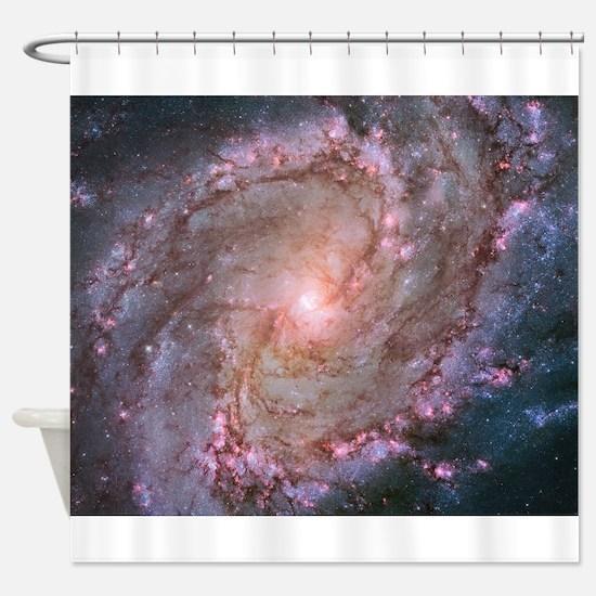 M83 Spiral Galaxy the Southren Pinw Shower Curtain