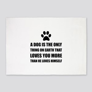 Dog Love You More 5'x7'Area Rug