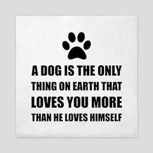 Dog Love You More Queen Duvet