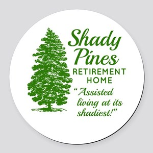SHADY PINES Golden Girls Round Car Magnet
