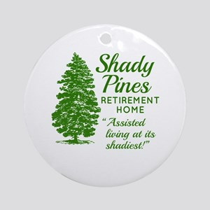 SHADY PINES Golden Girls Round Ornament