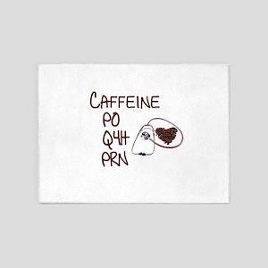 caffeine prescription 5'x7'Area Rug